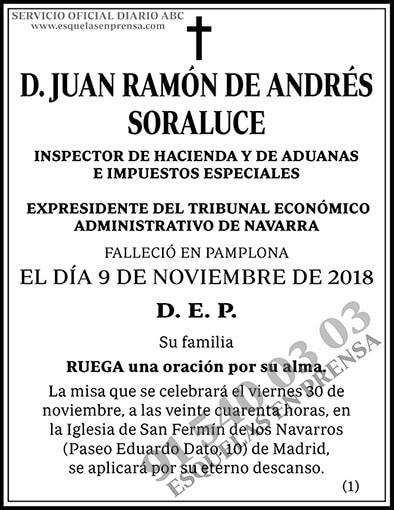 Juan Ramón de Andrés Soraluce